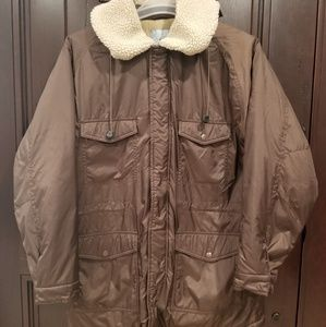 STUSSY Insulated Faux Fur Hooded Jacket Medium Men